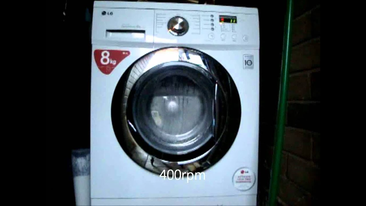 Lg F1222td Washing Machine Spin Only Program 1200rpm