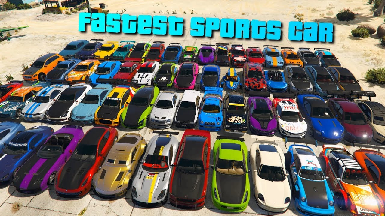 Gta V Online Which Is The Fastest Sports Car Acceleration Part 2 Youtube
