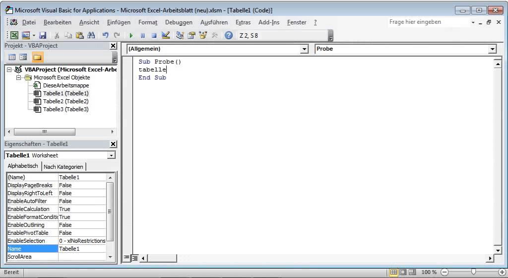 2ES_Einfaches Makro in Excel VBA schreiben und ausführen - YouTube