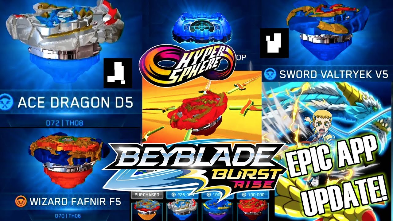 Beyblade Burst Rise Epic App Update Sword Valtryek Fafnir