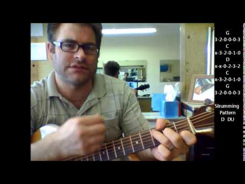 How To Play Hang On Sloopy By The Mccoys On Acoustic Guitar Youtube