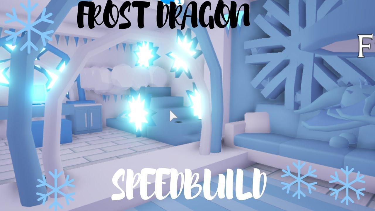 Frost Dragon Bedroom Speedbuild Roblox Adopt Me Youtube
