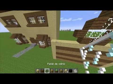 Como hacer la casa de planeta vegetta777 paso a paso pt1 for Como hacer una casa clasica de ladrillo en minecraft