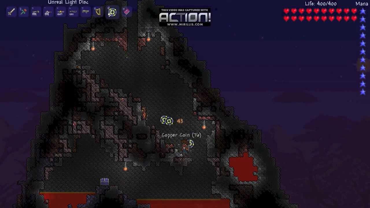 terraria how to make a volcano