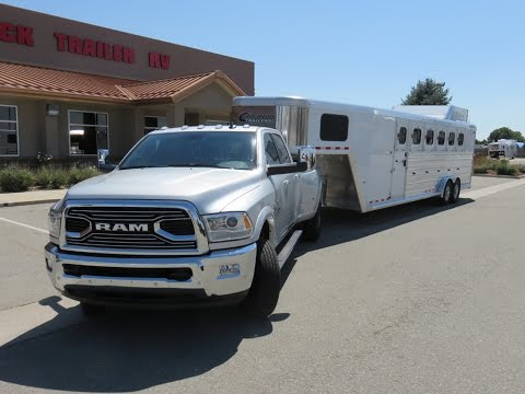 Ram Limited 3500 dually review with Cimarron horse trailer 2016