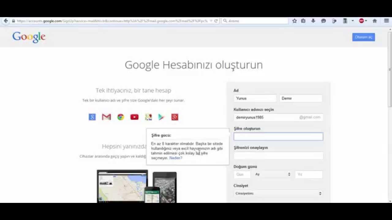 gmail giriş