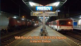 Vlak EuroCity 1361 a 1363 LEO Express (v noci)
