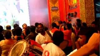 Durga Puja at Baghbazar, Kolkata - Beating Dhak (Drums)