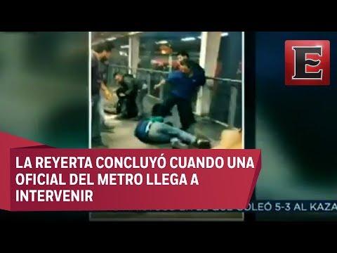 Pelea campal entre jóvenes en la Línea 12 del Metro