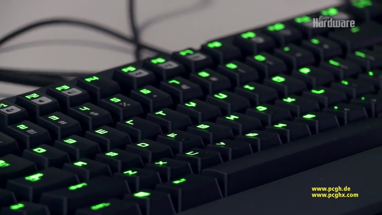Razer BlackWidow Ultimate 2014 Stealth Edition | PCGH-Test - YouTube