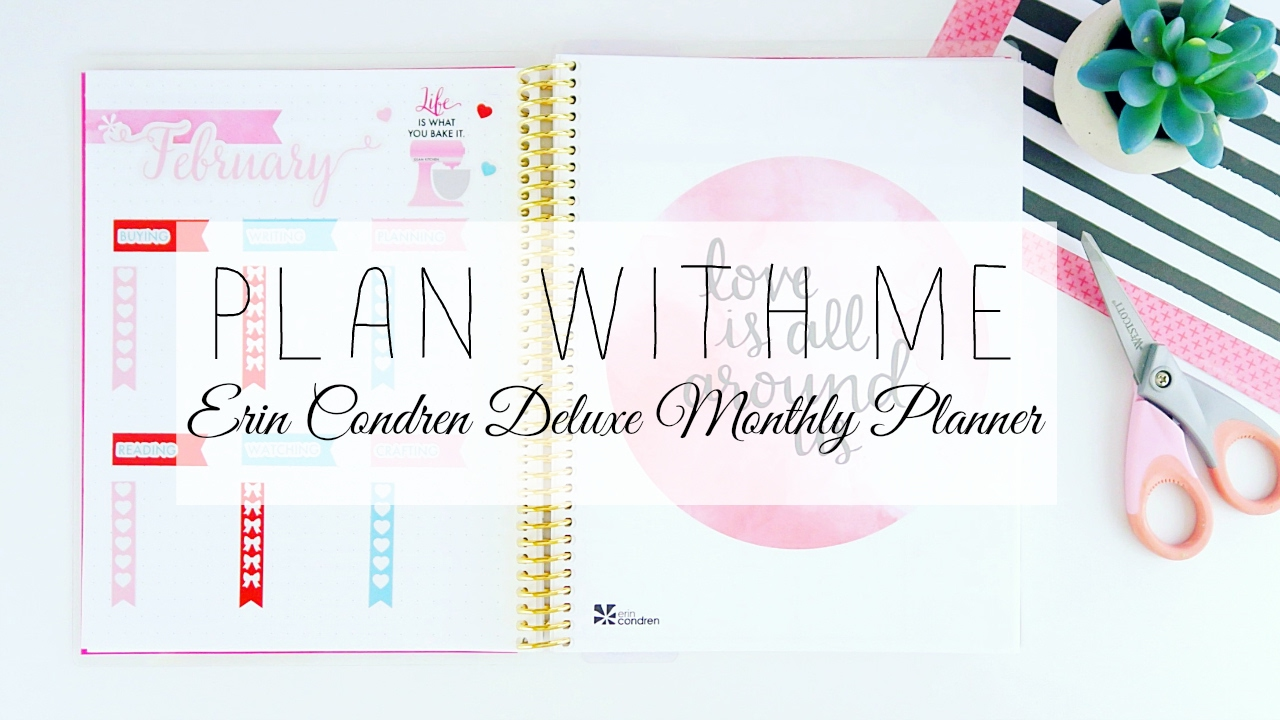erin condren deluxe monthly planner plan with me youtube