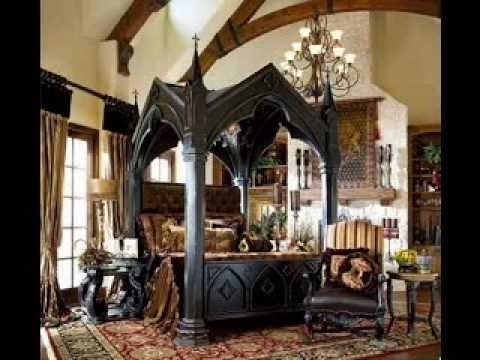 Gothic bedroom design decorating ideas YouTube