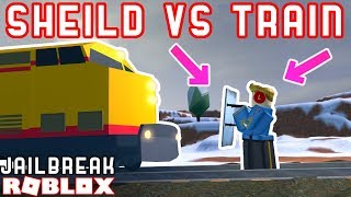 RIOT SHIELD VS TRAIN!?? *WHAT!?* - Roblox Jailbreak Mythbusting 5