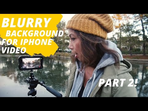 How to make a Blurry Background Video on iPhone