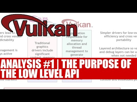 Vulkan API Analysis Part 1 | The Purpose Of The Low Level Cross Platform API