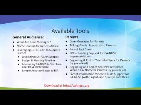 Introduction To CA4NGSS Communications Toolkits - Webinar March 22, 2017
