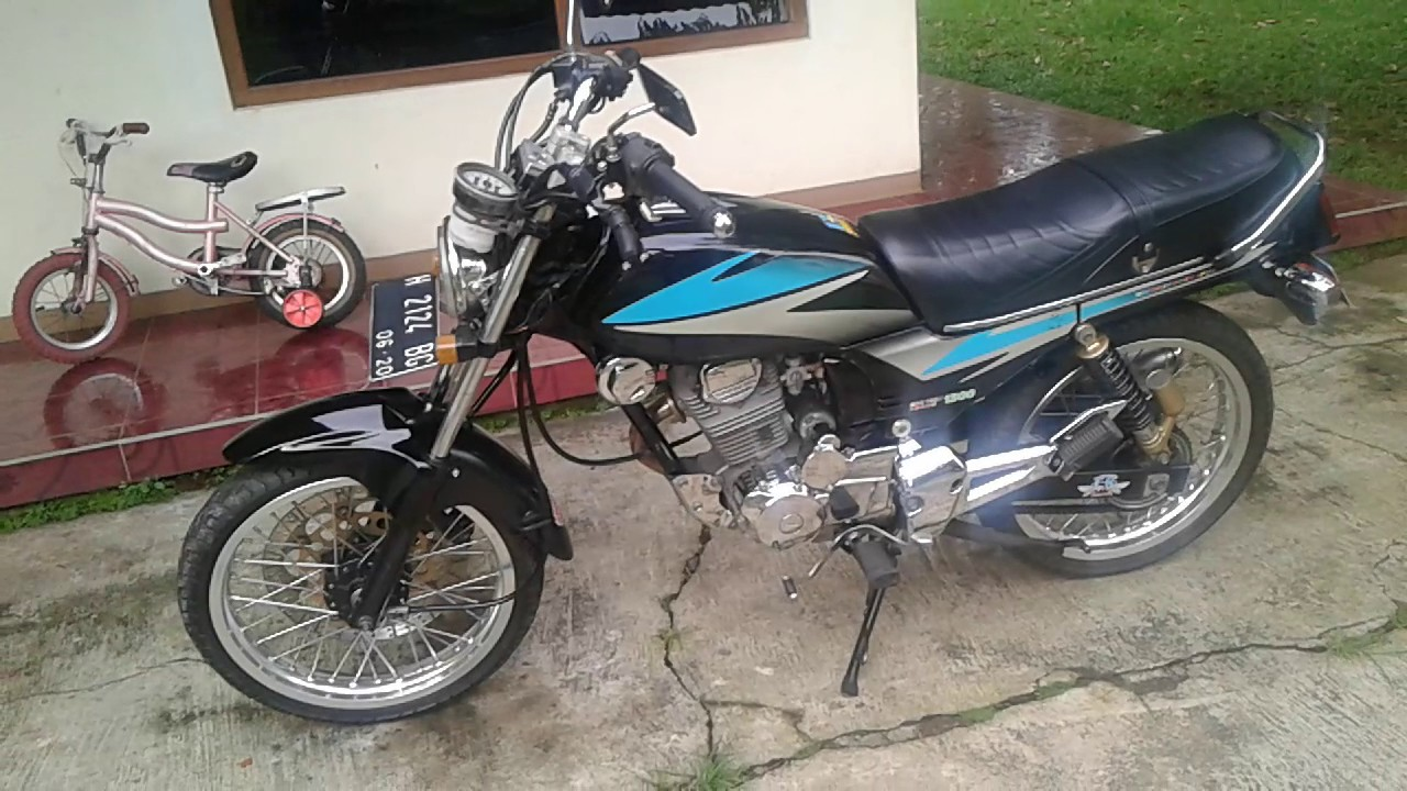 modifikasi honda gl pro 97 full tiger full crom - youtube