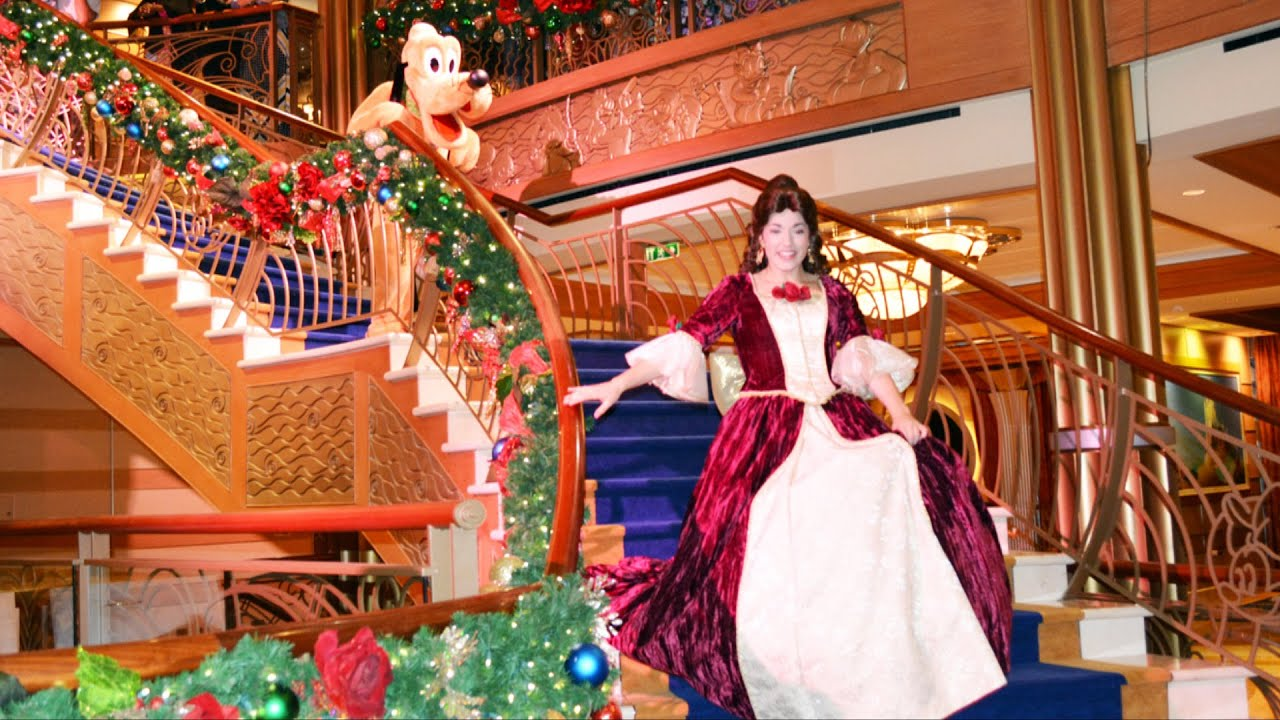disney dream merrytime cruise see ya real soon finale show with mickey minnie belle carolers youtube - Disney Christmas Cruise