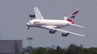 Airbus A380 British Airways - Landing and Close-Ups