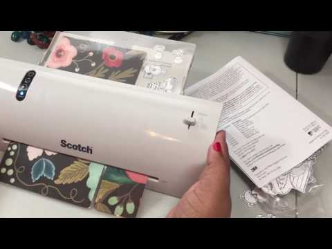 Scotch laminator tutorial DEMO