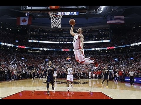 Norman Powell Soars for the Slam Against Indiana!