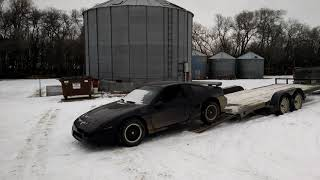 Dropping off my 1986 Fiero GT at the farm