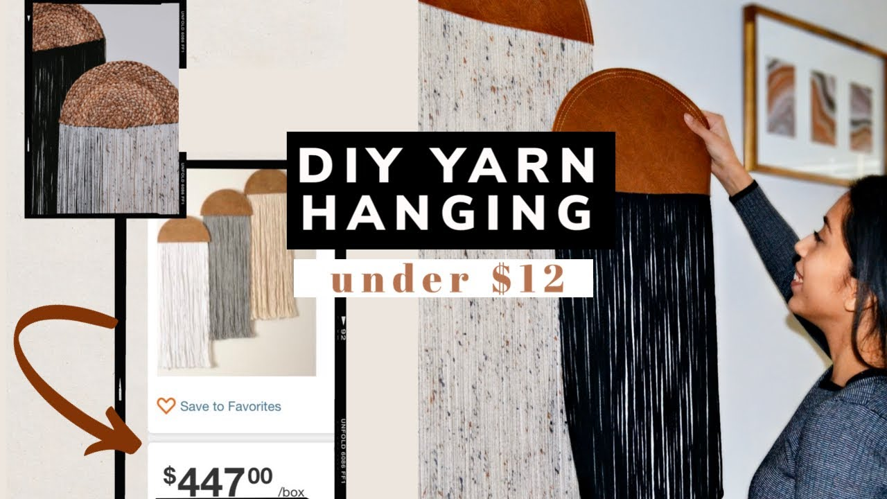 DIY Yarn Wall Hanging 2020 // Pinterest Decor Project