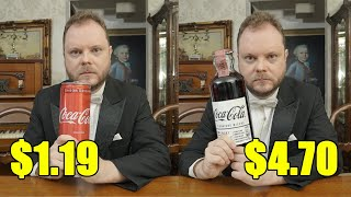 Can You Taste The Difference Between an Expensive and Cheap Coca Cola?