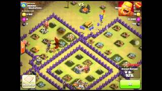 Clash of Clans Clan-Wars3 Star with Balloons and minions! new 2015