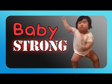 Babystrong Fitness Spoof Of What A Dance By A Chubby Korean Baby