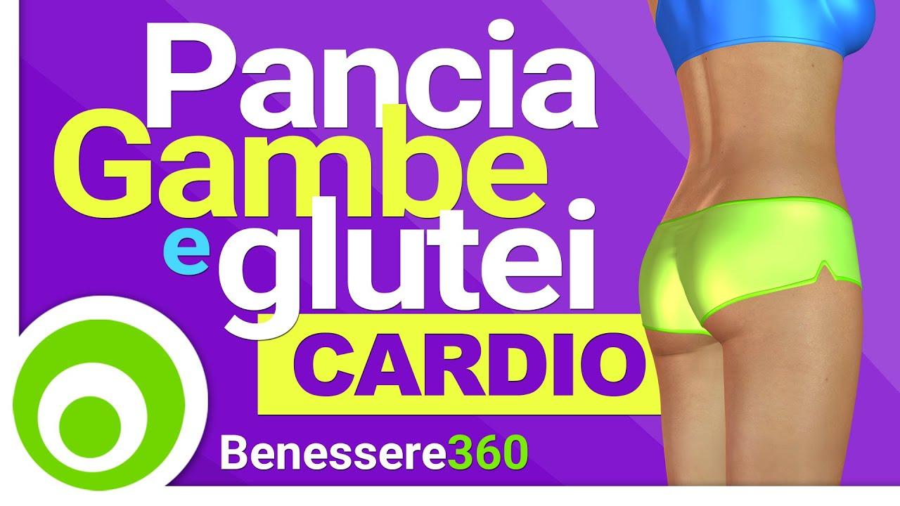 Esercizi Cardio per Addominali Gambe e Glutei Allenamento Fitness per Dimagrire e Tonificare
