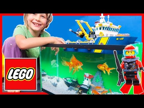 Lego City REAL FISH Deep Sea Exploration Vessel Adventure