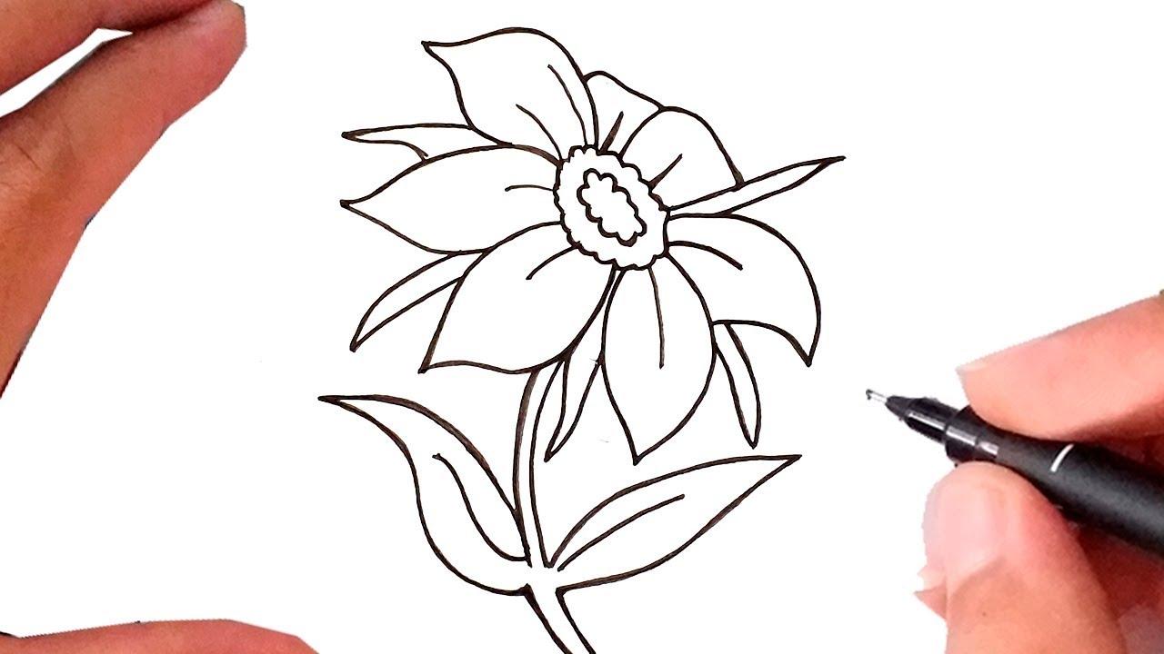Como Desenhar Uma Flor Linda Linda Youtube