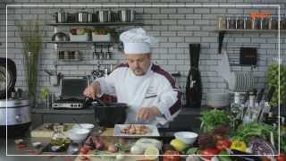 Анонс рецепта «Ассорти из морепродуктов с базиликом» от Лоренцо Страппато