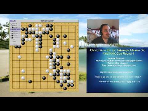 Sunday Go Lessons: Professional Game Review - Takemiya Masaki vs. Cho Chikun
