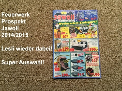 jawoll feuerwerk prospekt 2014 2015 lesli wieder mit dabei youtube. Black Bedroom Furniture Sets. Home Design Ideas