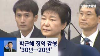 박근혜 '국정농단·특활비' 징역 20년 선고···10년 감형 / JTBC 정치부회의