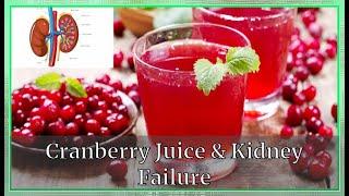 Cranberry Juice & Kidney Failure|Kidney deseases| Very Well