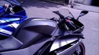 Yamaha YZF R125 2011 and 2012 Yamaha Blue & Matt Grey Exhaust Sound Check