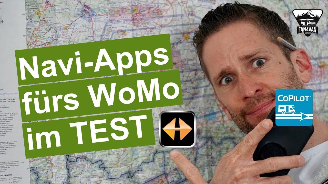 Die BESTEN Navi-Apps für Wohnmobil / Womo / Wohnwagen im Test