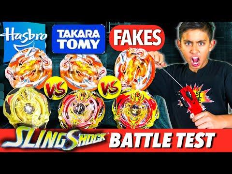 hasbro_Beyblade New Hasbro SlingShock Battle! (How to Play Beyblades) - YouTube