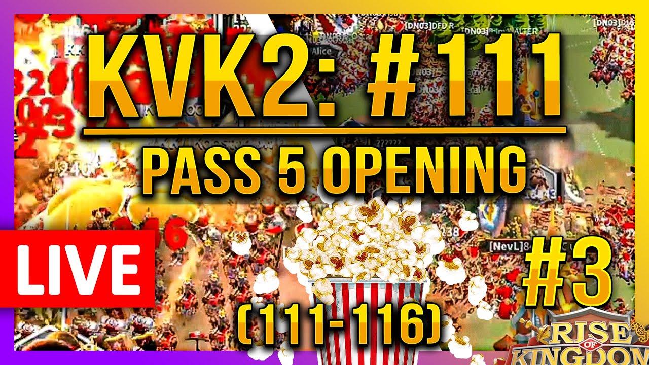Download Live: 🔴 #111 KVK2 Pass5 Opening (111-116 #3) - Rise of Kingdoms ROK Fleisch