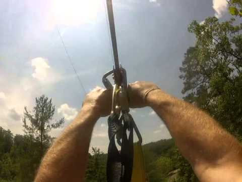 Red River Gorge Zipline Tour ~ All 5 Zips ~ 350 ft Above Red River!