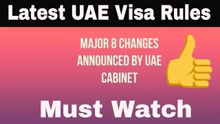 Major Changes in UAE Visa rules- 14th June 2018 I Mashoor Media I Tahera Vlogs