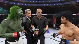 Ghoul vs. Bruce Lee (EA sports UFC 2) - CPU vs. CPU