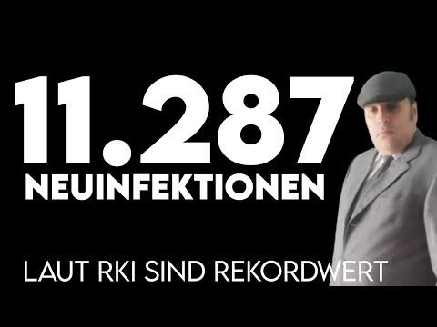 11.287 Neuinfektionen laut RKI - Aboluter Rekordwert für Deutschland - mehr als 10.000 Tote