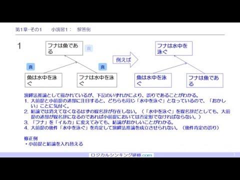 ロジカルシンキング 第1章 4) 演習問題解答例