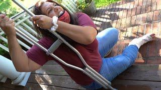JENNIFER BROKE HER LEG!!