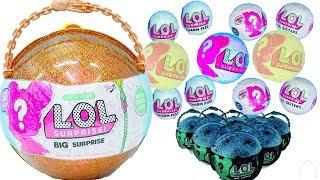 초거대 LOL 레어템 인형 뽑기놀이 했어요 ! 복불복 피규어 서프라이즈돌 공주 드레스 옷입히기 인형 장난감 놀이 LOL Surprise Giant Ball   보라미TV