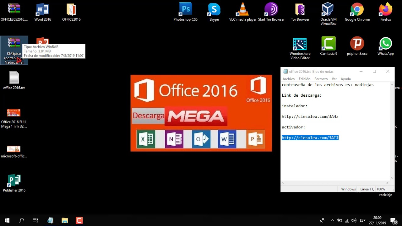 Microsoft Office 2016 en (2020) Full Descarga…